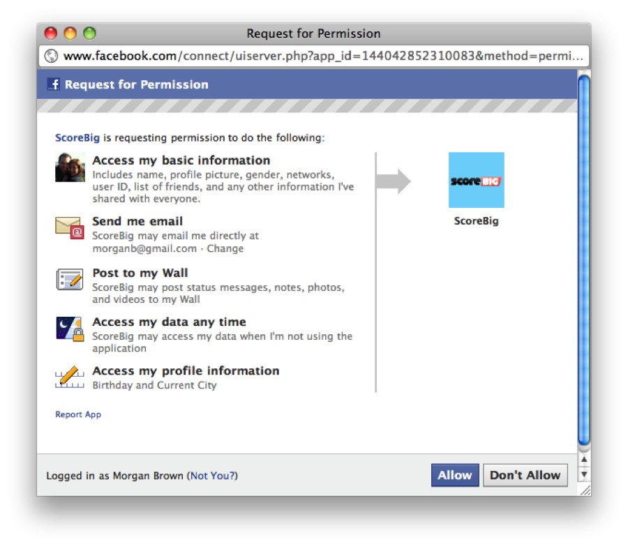 how to get access to facebook page